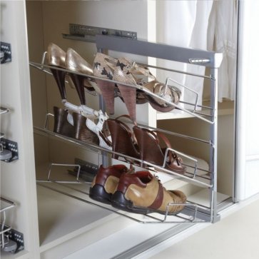 Pull-Out Shoe Rack 3 Tier Right Hand