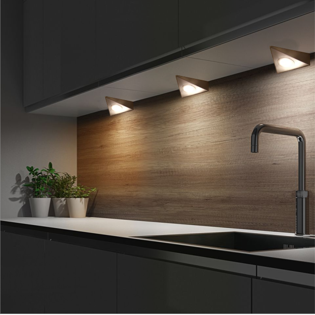 Linca Hd Led Kitchen Under Cabinet Strip Light: Sensio Bermuda HD LED Down Light 1.65W TrioTone
