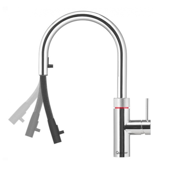 quooker flex chrome combi tank flex quooker boiling. Black Bedroom Furniture Sets. Home Design Ideas
