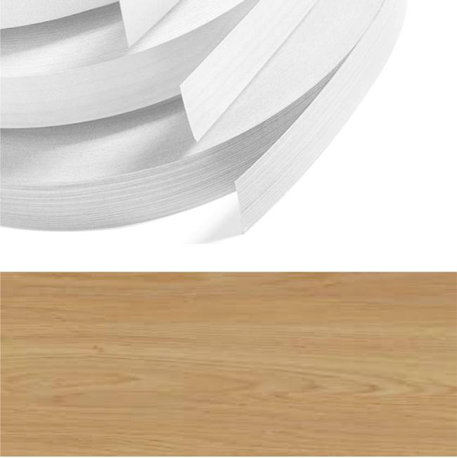 Lissa Oak Textured PVC Edging 22mm x 0 4mm x 300m Unglued