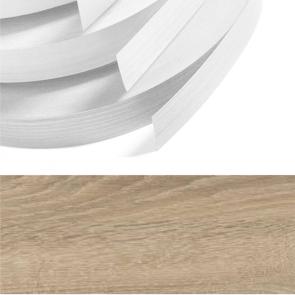 Grey Bardolino Oak Embossed PVC Edging 22mm x 0.8mm x 150m Unglued