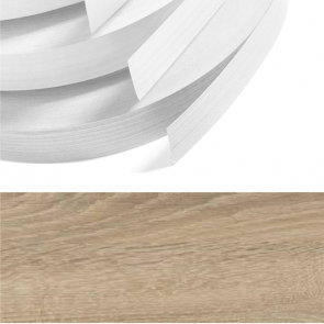 Grey Bardolino Oak Embossed PVC Edging 22mm x 2.0mm x 100m Unglued
