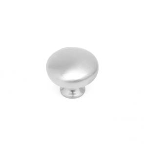 Button Knob Satin Chrome 32mm