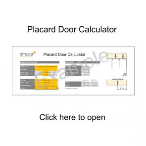 Placard Sliding Door Calculator