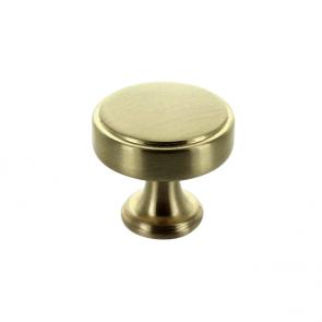 Calgary Knob Brushed Brass 40mm