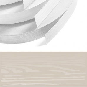 Cashmere Woodgrain PVC Edging 22mm x 0.8mm x 150m Unglued