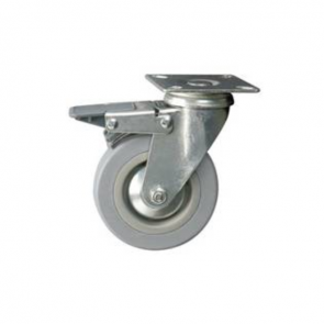 Rubber Wheel Castor with Brake