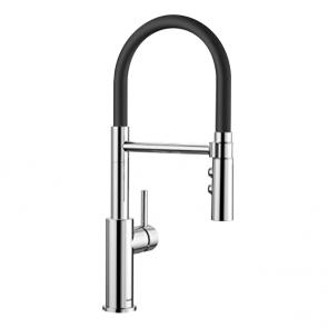 Blanco Catris-S Flexo tap chrome with black hose