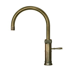 Quooker Classic Fusion Round Patinated Brass / COMBI 2.2 Tank
