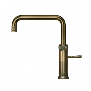 Quooker Classic Fusion Square Patinated Brass / COMBI 2.2 Tank