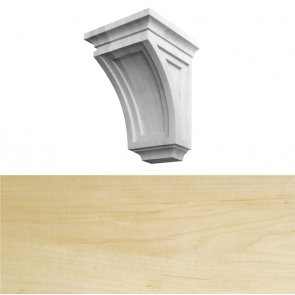 Modern Style Corbel 150 x 150 x 260mm - Maple