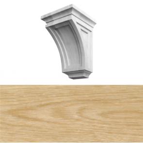 Modern Style Corbel 150 x 150 x 260mm - White Oak