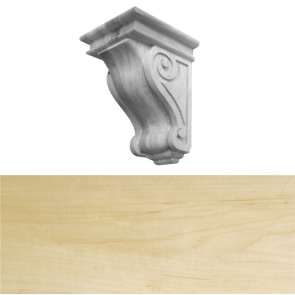 Traditional Style Corbel 150 x 150 x 230mm - Maple