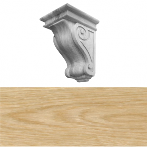 Traditional Style Corbel 150 x 150 x 230mm - White Oak