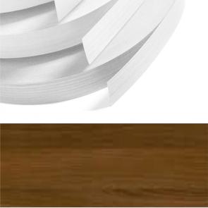 Dark Walnut Textured PVC Edging 22mm x 0.8mm x 150m Unglued