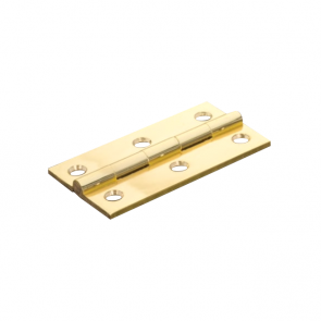 Butt hinge pair polished brass 63mm