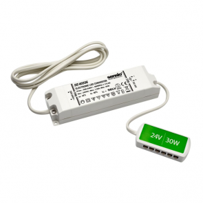 24V 30 Watt Led Driver With 12 Port Connector Block