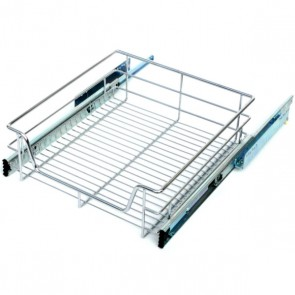 Full Extension Chrome Basket 600mm