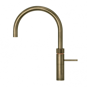 Quooker Fusion Round Patinated Brass / COMBI 2.2 Tank