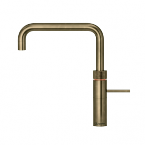 Quooker Fusion Square Patinated Brass / PRO3 Tank