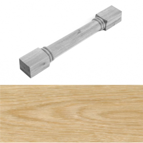 Gunbarrel Style Turned Post 1250 x 94 x 94mm - White Oak