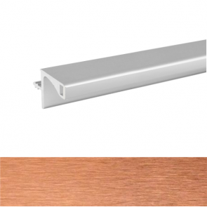 Handleless A Wall Profile 3900x19.6x20mm Brushed Copper