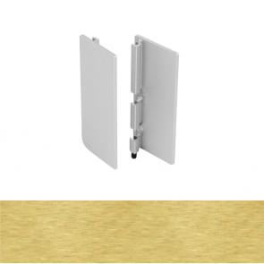 Handleless B Top Profile End Cap Set Brushed Brass
