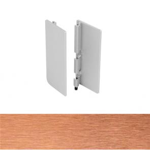 Handleless B Top Profile End Cap Set Brushed Copper