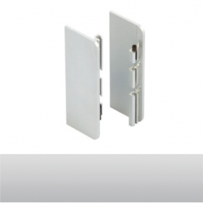 Handleless C Mid Profile End Cap Set Aluminium