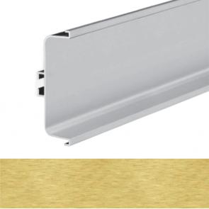 Handleless C Mid Profile 4100x73x26mm Brushed Brass