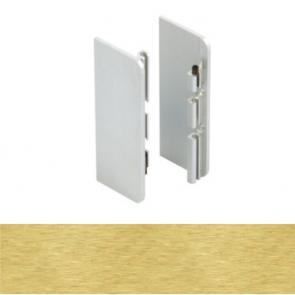 Handleless C Mid Profile End Cap Set Brushed Brass