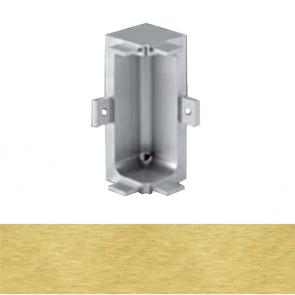 Handleless C Mid Profile Internal Corner Brushed Brass