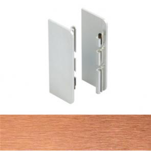 Handleless C Mid Profile End Cap Set Brushed Copper