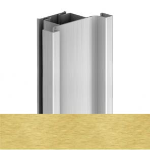 Handleless D1 Door To Door Vertical Profile 4200mm Brushed Brass