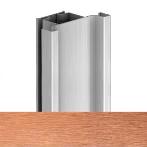 Handleless D1 Door To Door Vertical Profile 4200mm Brushed Copper