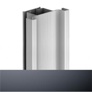 Handleless D1 Door To Door Vertical Profile 4200mm Graphite
