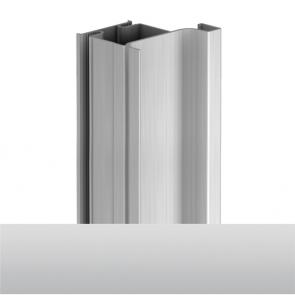 Handleless D2 Door To Gable Vertical Profile 4200mm Aluminium
