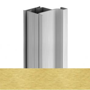 Handleless D2 Door To Gable Vertical Profile 4200mm Brushed Brass