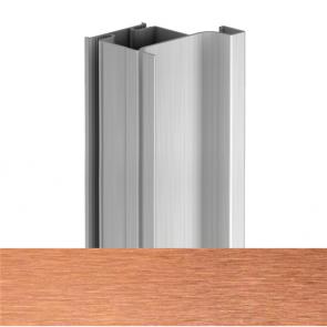 Handleless D2 Door To Gable Vertical Profile 4200mm Brushed Copper