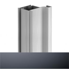 Handleless D2 Door To Gable Vertical Profile 4200mm Graphite