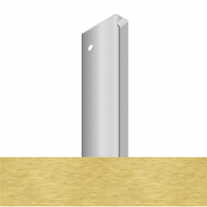 Handleless D3 Appliance Edge Vertical Profile 580mm Brushed Brass