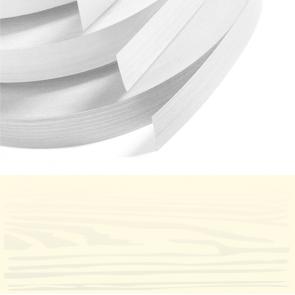Ivory Woodgrain PVC Edging 22mm x 0.8mm x 150m Unglued