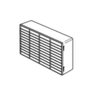 Megaduct. Louvered double airbrick. 235mm x 141mm white