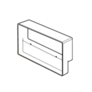 Megaduct. Double airbrick adapter. 220mm x 90mm fitting