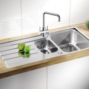 Blanco Lemis 6S-IF 1 1/2 bowl sink & waste kit