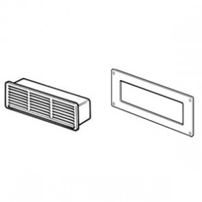 Domus Louvered Airbrick with Plate 204mm x 60mm White