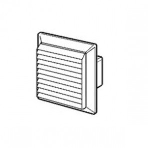 Domus Louvered Vent with Fly Screen 110mm x 54mm Fitting Brown