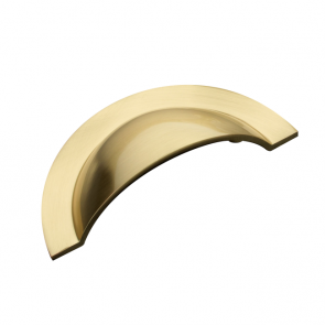 Monmouth Cup Handle Brushed Brass 64mm