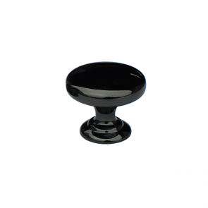 Monmouth Knob Polished Black Nickel 38mm