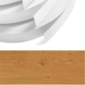 Natural Oak Woodgrain PVC Edging 22mm x 0.8mm x 150m Unglued